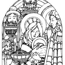 coloring page mary and baby jesus archives mente beta most