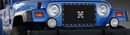 Rugged Ridge Billet Grille Inserts In Black 2004 Jeep Wrangler Custom Grilles Billet Mesh Led Chrome Black