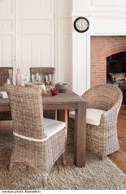 meuble en rotin pour veranda salle à manger en rotin kooboo gris chaise amélie kok maison