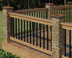 wood deck railings designs house design and planning