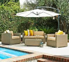 Patio Set With Umbrella by Discount Until 59 For Patio Wicker Sofa Set Free Cantilever