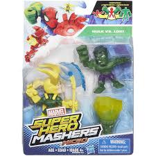 marvel super hero mashers micro hulk and loki 2 pack walmart com