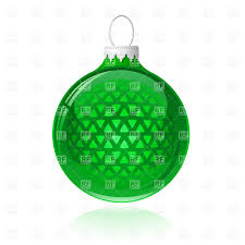 tree decoration green bauble vector clipart