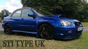 subaru impreza modified blue subaru impreza sti type uk review youtube
