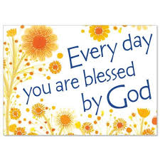 every day you are blessed by god happy birthday card pack of 5