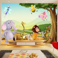 wallpapers for kids bedroom cartoon 3d wallpaper forest zoo wall murals personalized custom