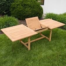 Outside Table And Chair Sets Matalinda Expandable Rectangular Teak Outdoor Table Set Outdoor