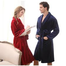 robe de chambre homme luxe luxury winter warm bathrobe flannel bath