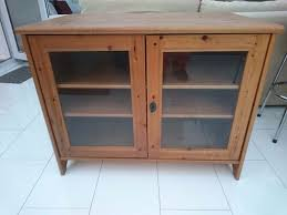 tv unit with glass doors ikea leksvik solid antique pine tv cabinet with lockable glass