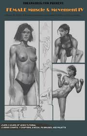how to draw woman anatomy in motion