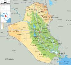 Physical Map Of Southwest Asia by Physical Map Of Iraq Ezilon Maps