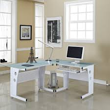 modern glass desk with drawers amazing white metal white computer desk sliding keyboard drawer