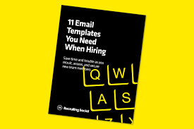 free resource 11 recruiting email templates you need when hiring