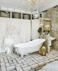 Antique Bathrooms Designs Vintage Bathroom Designs In Great Theme Idea With Brick Wall And