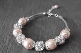rose pearl bracelet images Wedding blush pearl bracelet tea rose pearl bracelet bridesmaid jpg
