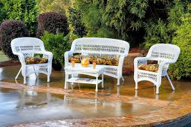 Tortuga Outdoor Portside Wicker  Piece Conversation Set - Outdoor white wicker furniture