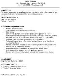 Resume Format For Call Center Job For Fresher Call Center Resume 210 X 140 Call Center Representative Resume