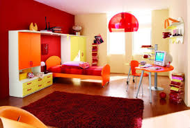colorful teenage bedroom idea with warm colors inspiring and