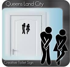 creative funny bathroom toilet wc business pub club restaurant