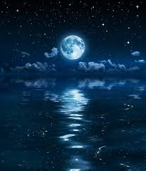 moon and clouds in the on sea poster pixers we
