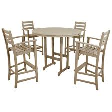 Outdoor Furniture High Table And Chairs by Aluminum Bar Height Dining Sets Outdoor Bar Furniture The