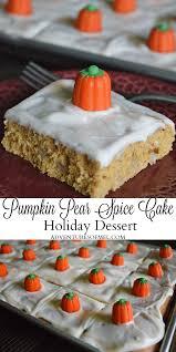 pumpkin pear spice cake dessert recipe