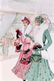 clintons art nouveau lady birthday card 2 art kaleidoscope