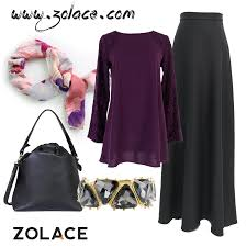 skirt labuh get from www zolace lacy evening blouse muslimah in purple
