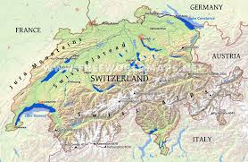 Labeled Map Of Europe by Switzerland Physical Map