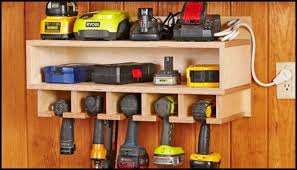 Build Your Own Charging Station Cordless Drill Storage And Charging Station Diy Projects For