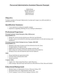 Resume Examples Of Objectives Statements by Administrative Assistant Objective Statement Best Business Template