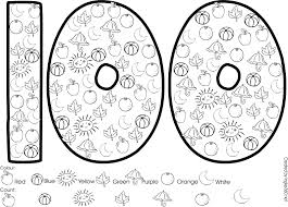number 100 coloring pages murderthestout