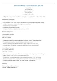 Software Resume Sample Software Support Specialist Resume Resame Pinterest