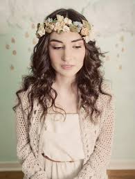 bridal flower beautiful boho bridal flower crowns chic vintage brides