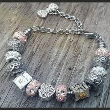 bracelet beads pandora style images European charm bracelet big sister or from silverstamped on etsy jpg