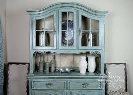 Hutch China Hand Painted French Provincial Buffet U0026 Hutch China Cabinet By