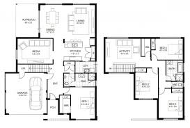 two story house floor plans with dimension story home plans ideas