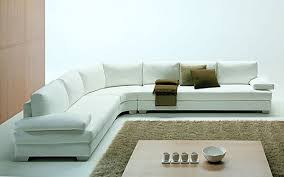 White Sectional Sofa Furnitures White Italian Sectional Sofa And Cream Fluffy Fur Rug