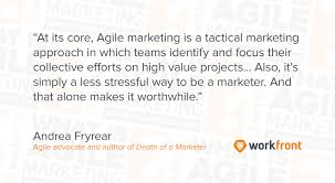 vendor quote definition what is agile marketing and why you should care