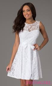 white dresses modest sleeveless cheap lace dresses promgirl
