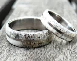 Deer Antler Wedding Rings by Antler Wedding Band Etsy