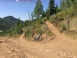 Park City Utah Trail Map by Crescent Mine Grade Mountain Bike Trail In Park City Utah