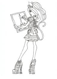 free printable monster high coloring pages catrine de mew free