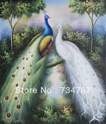 peacock home decor oil paintings on canvas museum quality fast