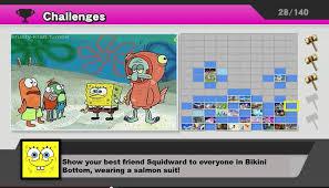 Smash Bros Memes - spongebob squarepants meme smash bros challenge show squidward on