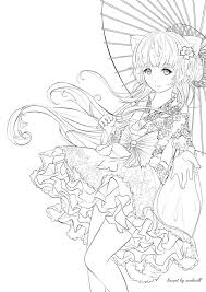 cute manga coloring pages anime coloring book pages