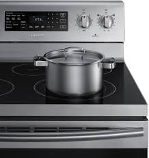 Clean Stainless Steel Cooktop Samsung Ne59m4320ss 30 Inch Freestanding Electric Range With