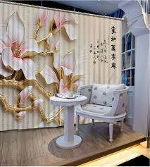 Kitchen Curtain Material by Custom 3d Curtain Flowers Curtains For Bedroom Kitchen Curtain