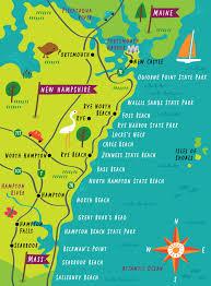 New Hampshire travel magazine images Illustrated map of new hampshire coast by nate padavick idrawmaps jpg