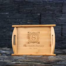 engraved serving trays personalised engraved wooden serving tray best gift for cooks or